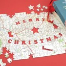 Merry Christmas personalised jigsaw puzzle - Landranger map