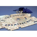 Personalised map jigsaw puzzle - Best dad in the world