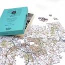 Personalised jigsaw - Landranger UK postcode jigsaw puzzle - 255 Pieces