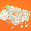 OS Street View personalised map jigsaw puzzle - 255 pieces