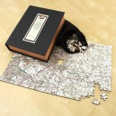 Luxury wooden map jigsaw puzzle - Landranger
