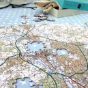 Landranger personalised postcode map jigsaw puzzle - 400 pieces