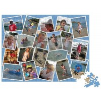 1000 piece personalised photo collage jigsaw from 20 photos