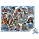 Personalised scattered photos collage jigsaw 500 piece