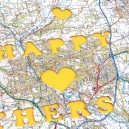 Personalised Mothers Day map jigsaw puzzle